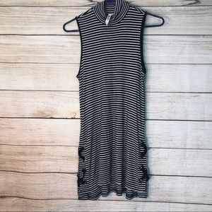 Cable & Gauge striped sleeveless dress Sz L